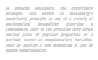 Wikipedia: Heisenberg Uncertainty Principle -- disfluent