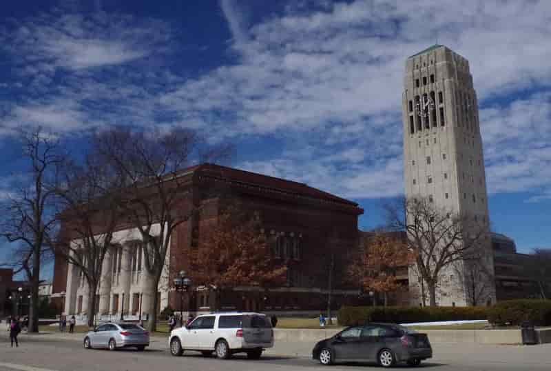University of Michigan - Hill Auditorium and bell tower